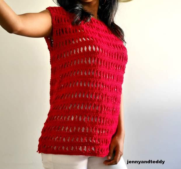 summer crochet top beginner