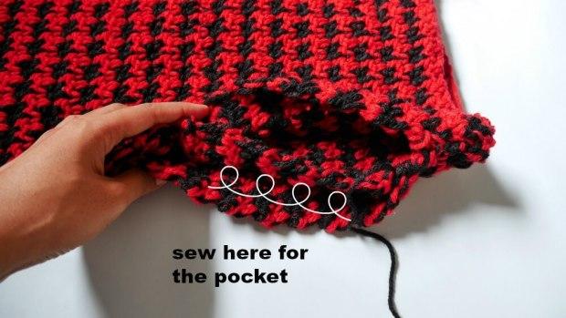 crochet pocket4