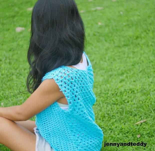 cotton summer crochet top easy