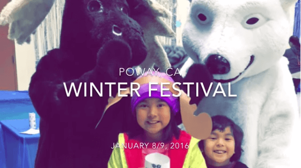 Fun for the Kids at Winter Festival in Poway