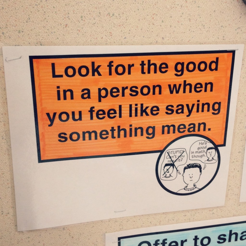 look for the good in a person when you feel like saying something mean via @jennyonthespot