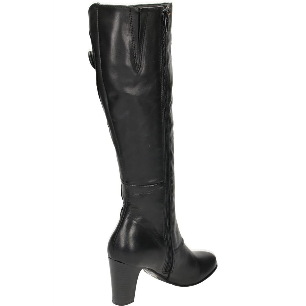 Hush Puppies Libby Brook Real Leather Suede Knee High Heel