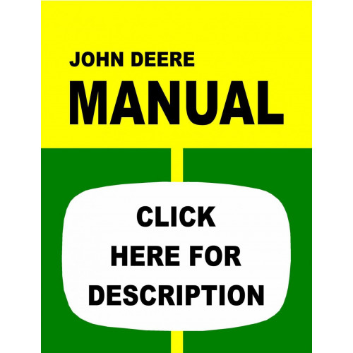 John Deere 1040 Tractor Service Manual (IT Shop)