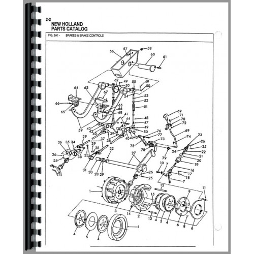 Ford Backhoe Controls Diagram Index listing of wiring diagrams