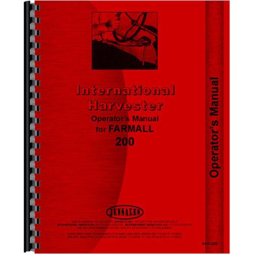 Farmall 200 Tractor Operators Manual