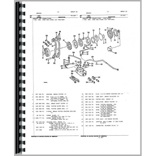 706 Farmall Transmission Diagram Index listing of wiring diagrams