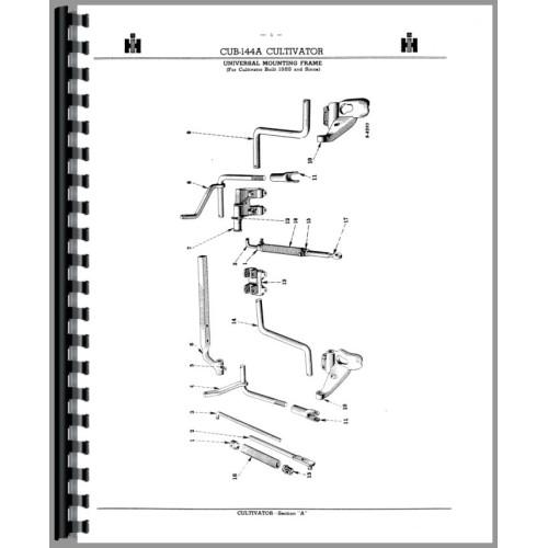 Farmall Cub Lo-Boy Tractor Fast Hitch Attachments Parts Manual