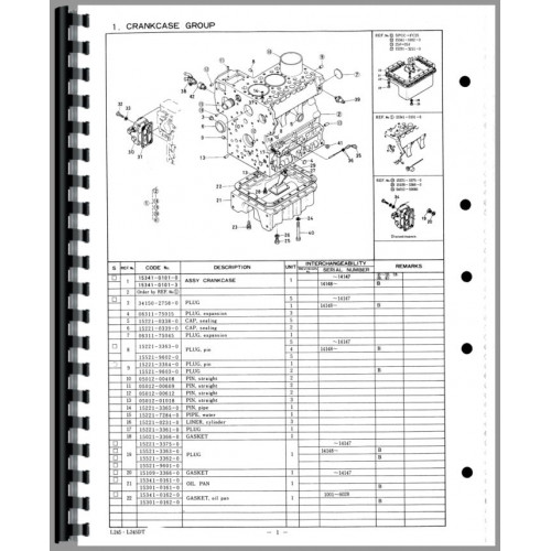 Kubota L245DT Tractor Parts Manual