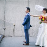 Fuchsia, Tangerine, Yellow & Navy Wedding at Union Station, Tacoma