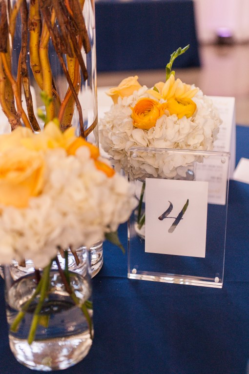 Union Station Wedding || Photo: Genesa Richards Photography ||Yellow Table, Table Number