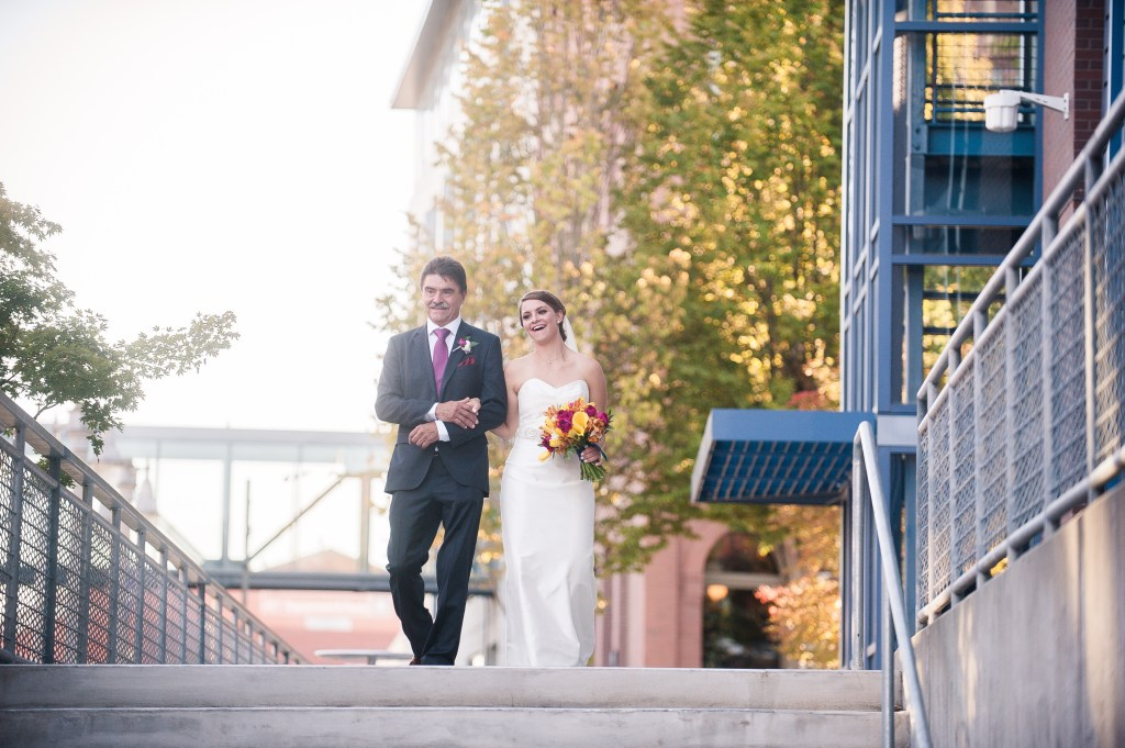 Union Station Tacoma Wedding || Photo: Genesa Richards Photography ||Bride & Father