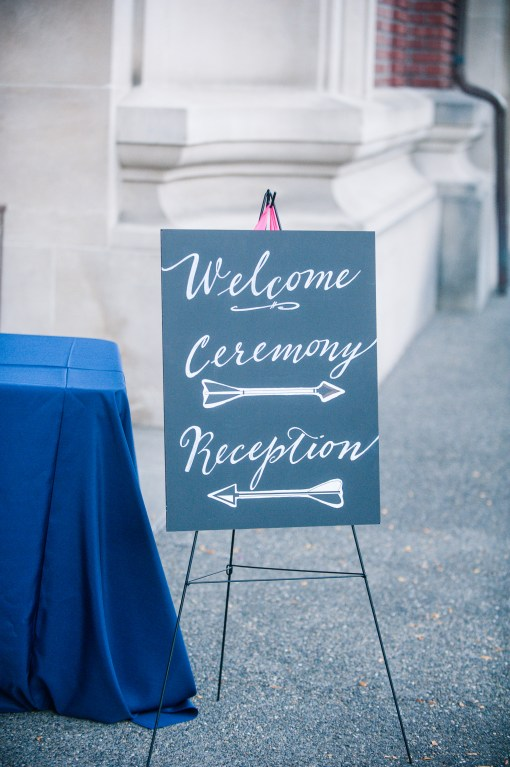 Union Station Tacoma Wedding || Photo: Genesa Richards Photography ||Signage