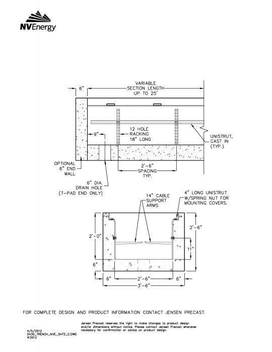 Jensen Precast - NV Energy - Electric Utility Structures - Trenches