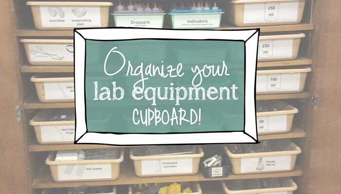 Organize science equipment like a rockstar!