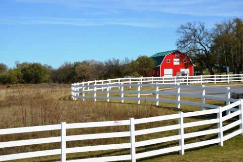 Red Barn, White Fence | On The Road To Jones, Oklahoma