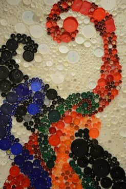 Bottle Cap Mosaic Artwork Diversity Justice
