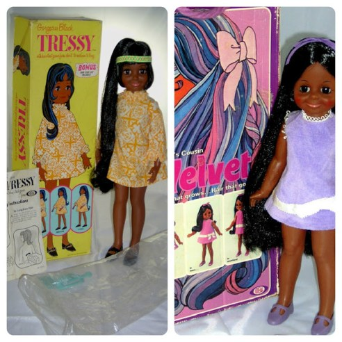 African American Crissy and Velvet Dolls
