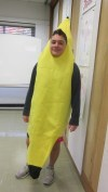 "Junior Maxx Goldstein sports a banana suit. ""I like to eat bananas,"" Goldstein joked about his getup."