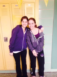 Lauren Dolowich (left) and Sammi Stein are members of the OTH Awareness club