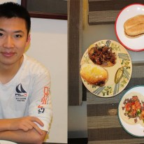 "Senior Brian Min is of Chinese descent. His extended family on his father's side originates from Oaxaca, Mexico. For Min, growing up in a Chinese household and having Hispanic relatives is something he has always loved. Chinese and Mexican cuisines ""meld together beautifully,"" said Min. Pictured is a torta, a Mexican sandwich, and a tortilla taco. His tortilla is garnished with herbs such as cilantro and onions, seasoned with lime juice, and paired with pulled pork. His side dishes are frijoles negros con chorizo, and salsa y carne con chile (black beans with sausage, salsa, and steak with chili)."