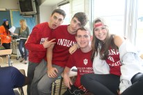"Brian Kenny (second from the right) said, ""I chose Indiana because the business school was very compelling and I knew I would be able to succeed there after visiting the attractive campus."""