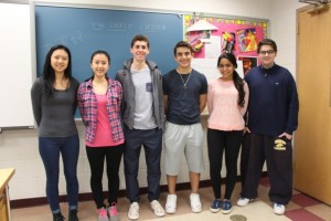 Editors of the blog. from left, Nicole Chen, Caroline Chen, Cole Pergament, Jack Josephy, Keanna Ghazvini, and Tyler Futterman.