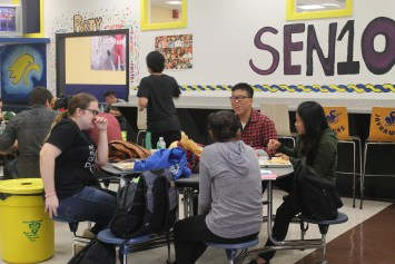 "Students don't mind that the teachers share the food service system with them, but some feel bad for the staff. Senior Jacklyn B. said, ""Teachers shouldn't be wasting their time in this cafeteria. They are very busy, and it must be difficult for them to come in here."""