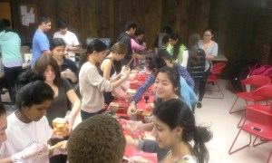 Members of the French Honor Society helped make over 250 bagged luches for people in need.