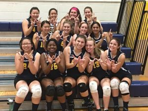 Girls Varsity Volleyball finished the season with a record of fifteen wins and three losses.