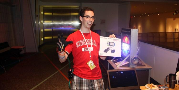 Demoing the SudoGlove at the 2011 Open Hardware Summit