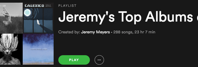 Jeremy's Top Albums – 2015