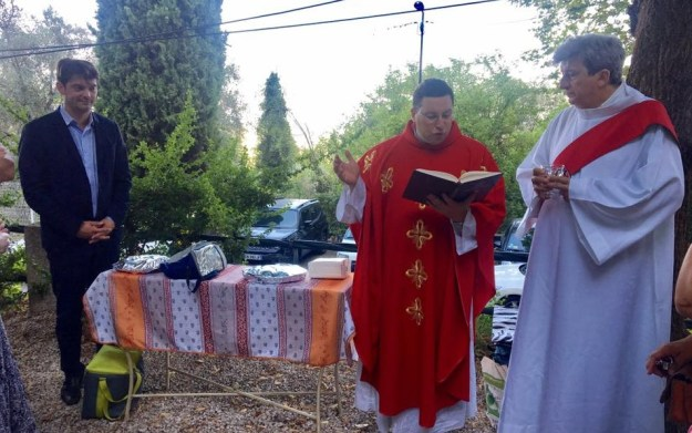 Traditionnelle messe en l'honneur de Saint Christophe 01