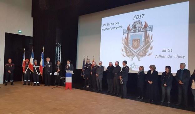 Les Sapeurs-pompiers de Saint-Vallier fêtent la Sainte Barbe 01