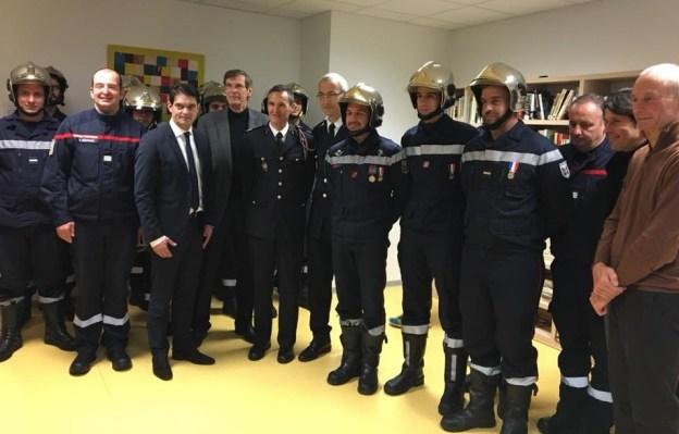 Passage au chevet du Capitaine Thierry Pellerin, chef du CIS de Mouans Sartoux 03