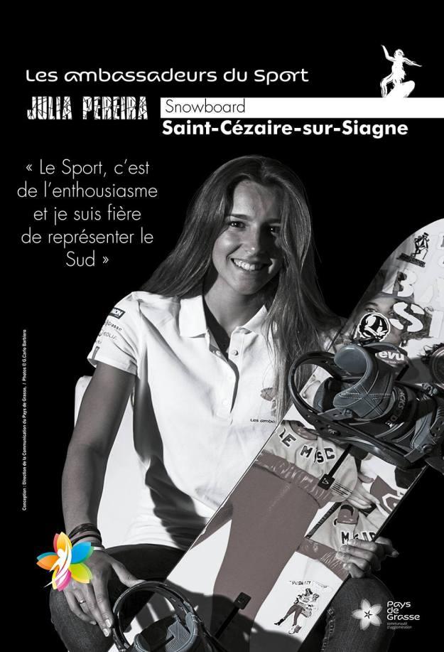 C'est le cœur de tout un territoire qui battra pour Julia PEREIRA en Snowboard Cross 02