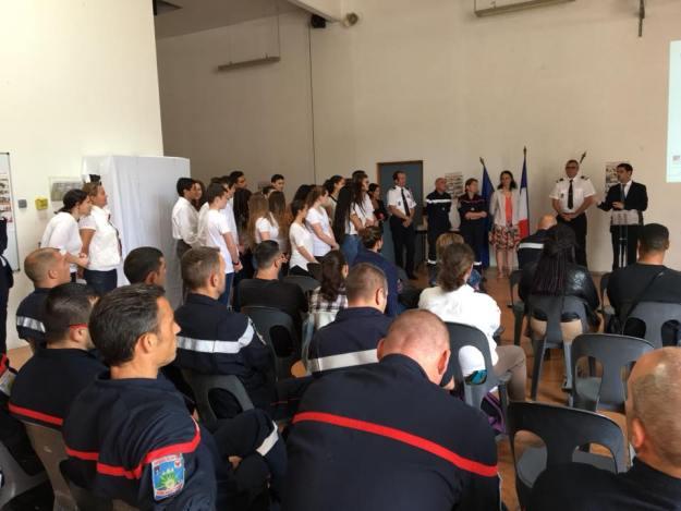 Fier de la classe Cladet de la Sécurité Civile du collège Carnot 02
