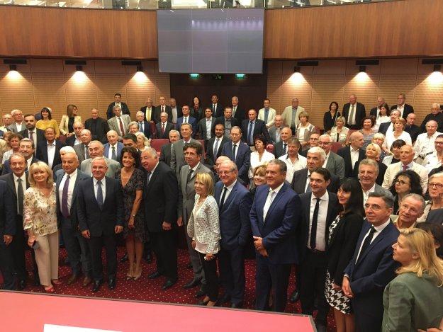 Visite de Gérard Larcher au Conseil Départemental des Alpes Maritimes 04