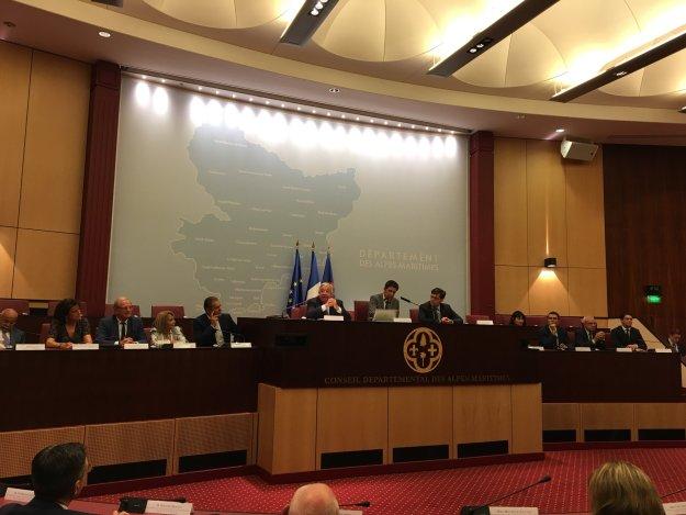 Visite de Gérard Larcher au Conseil Départemental des Alpes Maritimes 05