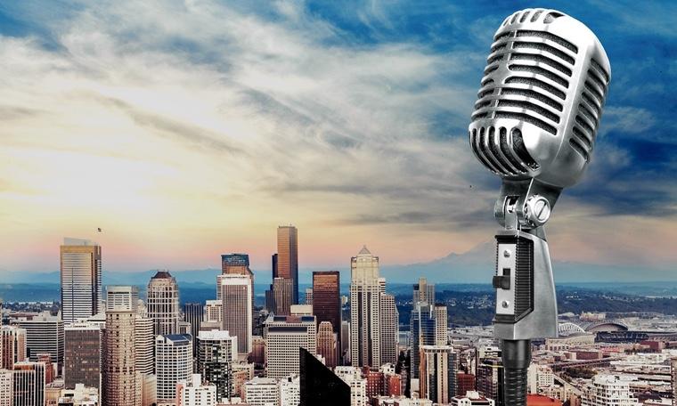 Microphone radio mic retro old broadcasting stand