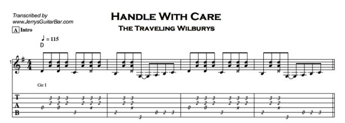 Travelling Wilburys Handle With Care Chords Anexa Creancy