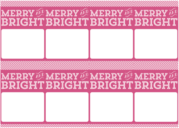 free printable holiday gift tags cards