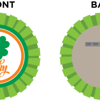 DIY St. Patrick's Day badge & free printable