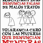 denuncias falsas tolerancia cero