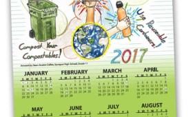 Student Recycled Art Calendar