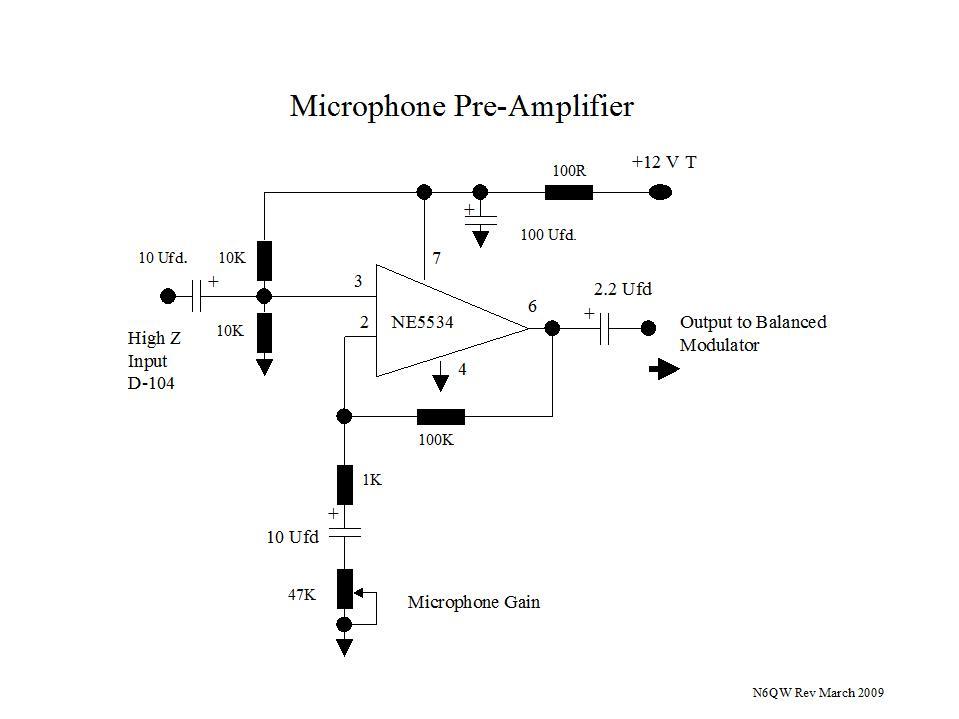 balanced microphone amplifier circuit