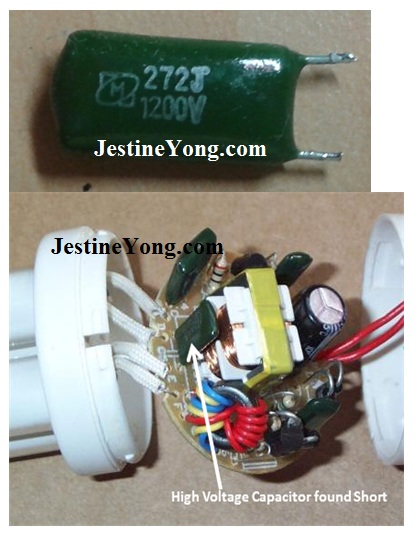 15W Compact Fluorescent Lamp (CFL) Bulb Repaired Electronics