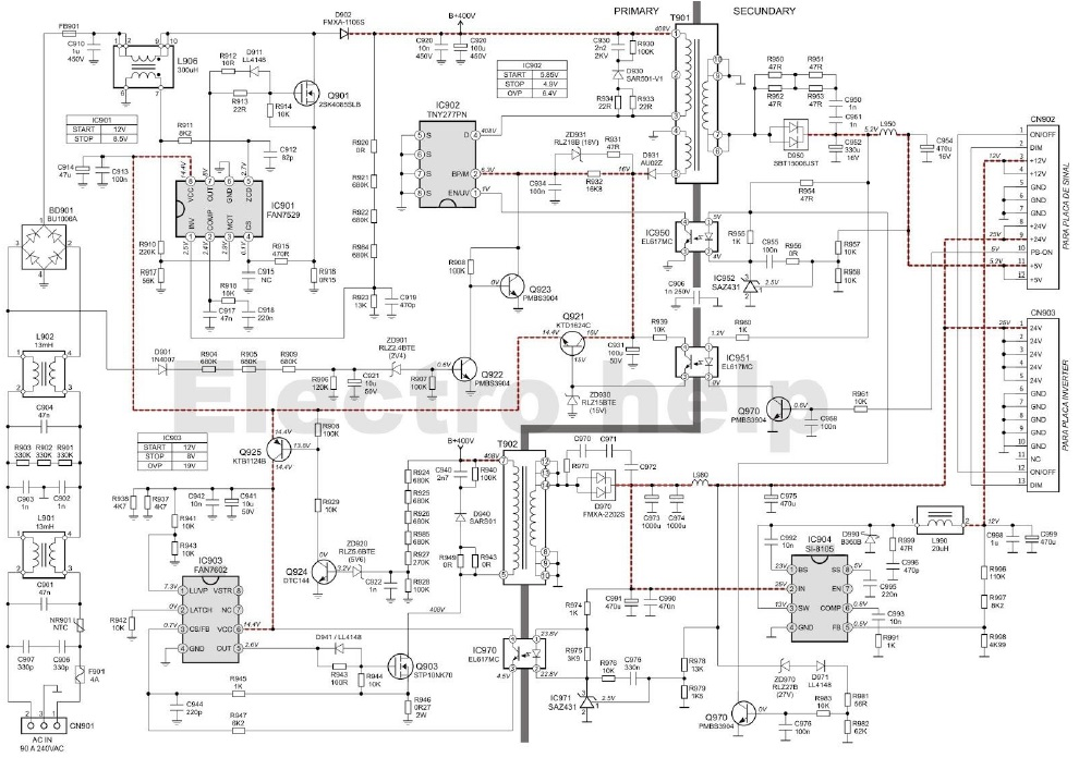 atx power supply schematic