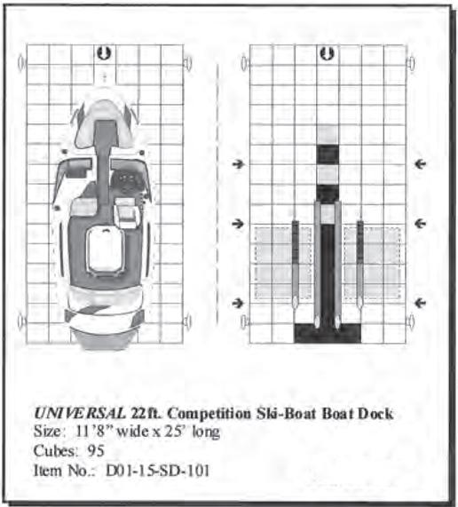 Universal 22\u0027 Drive On Competition Ski Floating Boat Dock