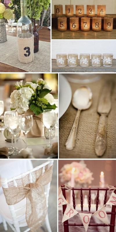 Burlap Reception Details - The Destination Wedding Blog ...