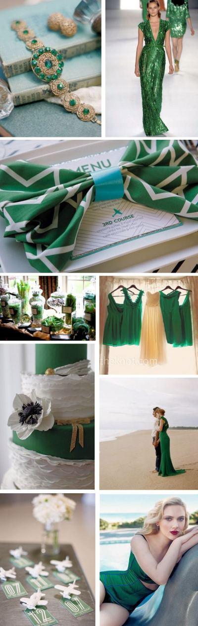 Emerald Green Weddings - Pantone 2013 Color - The ...